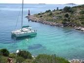 Sailing on the Adriatic near Croatia.