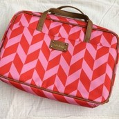Chevron Print Jewelry Case