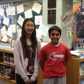 School Champion Sophie Huang and Runner-up Shauir Ramanujan