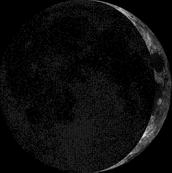 What the moon looked like when I was born (at Midnight, US Central time, as viewed from the Northern Hemisphere)