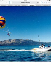 Me and my sister our favorite thing we did was  parasailing a huge pare shut pulls us on a boat