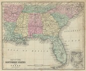 Southern United States Location With Map an Physical Characteristics