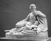 Statue of Artemis, Apollo, and their Mother