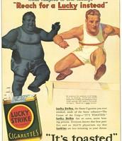 Cigarette ads in the past
