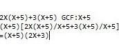Binomial Common Factoring