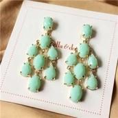 Lily Chandelier Earrings (Light Green)
