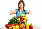 Fresh fruits and vegetables are good for healthy skin
