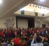 Snap from the Third Grade Veterans Day Performance!