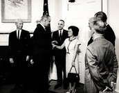 Patsy Shanking Hands With LBJ