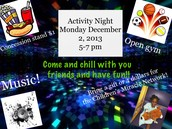 Paradise Junior High Activity Night