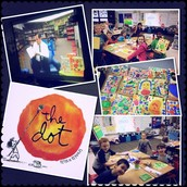 To kick off our theme, Mr. Bennett read our school wide picture book, THE DOT by Peter R Reynolds, via morning announcements!