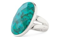 Odyssey Ring in turquoise.