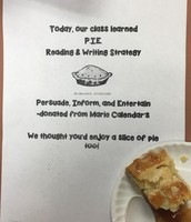 Ms. Frenzel's Class Learned About P.I.E. With Pie From Marie Callenders!