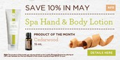 Spa Hand & Body Lotion - Save 10% In May
