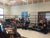 Friday Music Classes get a Visit!