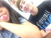 Odelia and Noah also take selfies