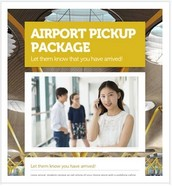 Airport pickup package @ 70€
