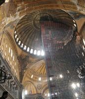 The Interior Dome of the Hagia Sophia Under Construction