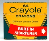 64 Crayons and Sharpener