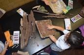 Tree bark creation
