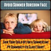 PVSD Community Ed Summer Programs Still Open!