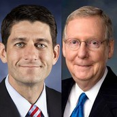 Speaker of the House Paul Ryan and another Republican in Congress