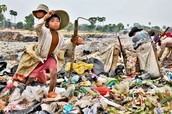 Children working on the dumps in Cambodia