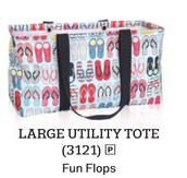 Large Utility Tote in Pink Cross Pop