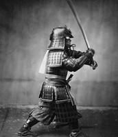 Samurai Wielding Sword