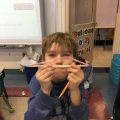 making shapes with straws