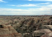 A view of the Badlands
