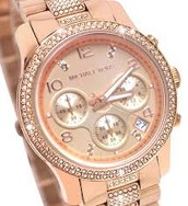 MK roes gold watch