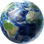 Here is a picture of the Earth.