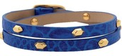 Hudson Leather Wrap Bracelet - Blue