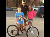 Thank you to Matt and Melissa from the Bicycle Station for making this such a special day for Dane!