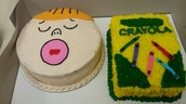Cakes for CES Bluebonnet Voting Party: I Dare You Not to Yawn & The Day the Crayons Quit