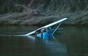 Cessna 406 crashing in a lake.