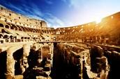 Sunrise In ancient rome