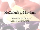 McCullogh Vs. Maryland