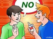 Peer Pressuring the boy to smoke