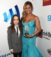 Ellen Page & Laverne Cox at the 2014 GLAAD Awards