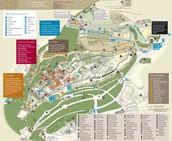Plano de la Alhambra con explicación de las partes