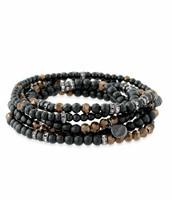 Odeon Stretch Bracelets, Black