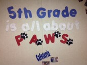 5th Grade is all about PAWS!