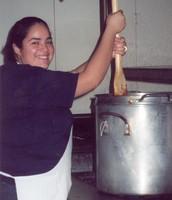 Ms. Sanchez baking bread