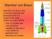 who invented the first rocket in World War 2