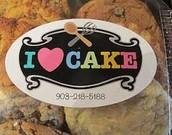 I Love Cake! Located in Kilgore Texas.