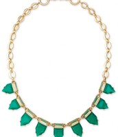 Eye Candy Necklace in Emerald $40