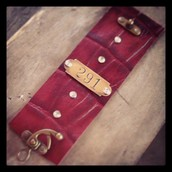 One of a kind Leather cuffs
