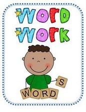 Next Week's Word Work List